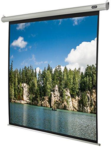 celexon Beamer-Leinwand Motor Economy 220 x 220 cm Format 1:1 Motor-Leinwand fuer alle Projektionssysteme Gainfaktor 1,2 fuer Heimkino & Praesentationen Zur Wand- und Deckenmontage geeignet