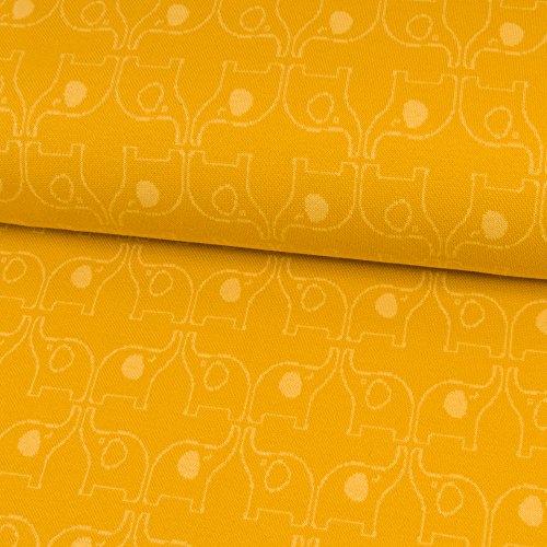 Stoffe Werning Algodón Jacquard Jersey Elefantes Niños sustancias–Precio DE 0,5Metro de