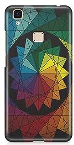 Vivo V3 Max Back Cover by Vcrome,Premium Quality Designer Printed Lightweight Slim Fit Matte Finish Hard Case Back Cover for Vivo V3 Max