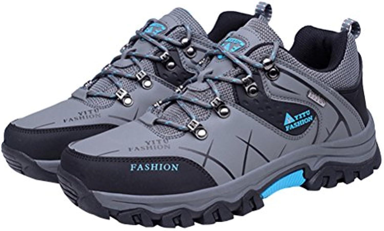 WINOMO Botas de trekking para caminar para hombre Botas de lluvia impermeables antideslizantes para caminar al  -