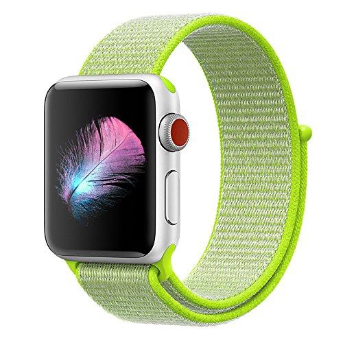 HILIMNY para Correa Apple Watch 38MM 42MM, Suave Nylon iWatch Correa, para Series 3, Series 2, Series 1, Nike+, Edition, Hermes