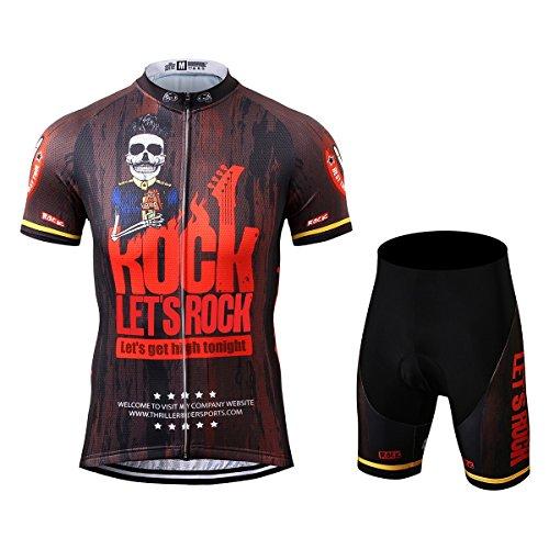 Thriller Rider Sports® Herren Let's Rock Sport & Freizeit MTB Fahrradbekleidung Radtrikot und Kurze Hose Anzüge Small