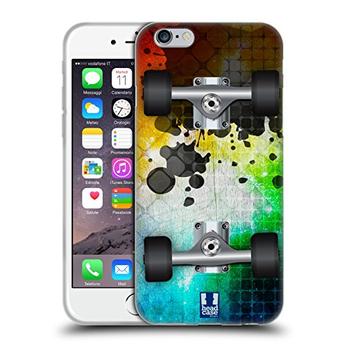 Head Case Designs Mosaic Skateboards Soft Gel Case for Apple iPhone 6 / 6s