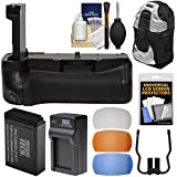 Vivitar Deluxe Power Battery Grip For Canon Rebel T7i & EOS 77D DSLR Camera With Battery & Charger + Case + Kit