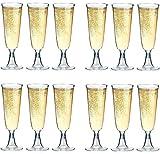 50 Einweg Sektgläser 0,1l Hartplastik Sektkelche Trinkbecher STAR-LINE Champagnergläser Sektglas Sekt-Cocktail-Saft-Becher Party-Becher