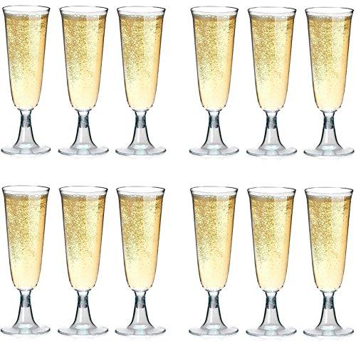 (50 Einweg Sektgläser 0,1l Hartplastik Sektkelche Trinkbecher STAR-LINE Champagnergläser Sektglas Sekt-Cocktail-Saft-Becher Party-Becher)