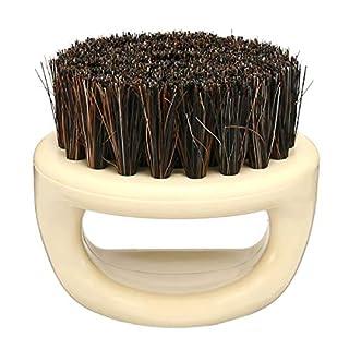 KUNSE Ens Boar Haar Bristle Comb Beard Mustache Pinsel Oval Handheld Moustache Reinigung Pinsel