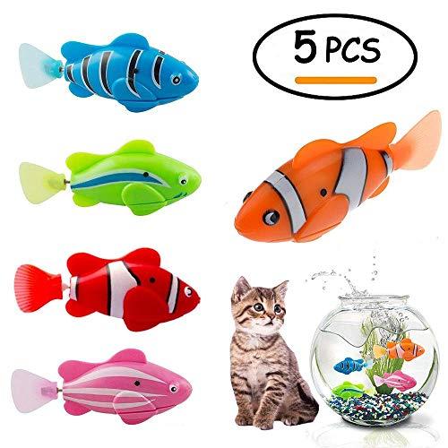 BTkviseQat Katze Spielzeug, Elektrische Fische Katze, 5pcs Haustier Bewegung Fish Katze Spielzeug, Katzenspielzeug Künstliche Bewegung Fisch Katze Teasing Spielzeug Kätzchen Spielzeug Für Haustier