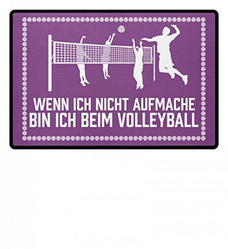 Shirtee .bin ich beim Volleyball - Geschenk Volleyballspieler-in Volleyballer-in Volleyball-Fan -...