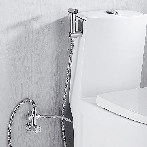 Handbrause für Bidet, aus Edelstahl/Messing, für Haustier-Badewanne/Fußbodenreinigung, mit Wandhalterung und 119,4 cm Schlauch
