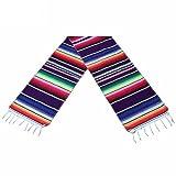 BESTONZON Corredor de tabla del corredor de la tabla del estilo mexicano Corredor de la tabla del arco iris para las decoraciones de la boda del partido mexicano (35x215cm)