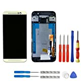 swark LCD Display für HTC One M9 (Not fit M9 + / M9 Plus) Gold Touchscreen Bildschirm Digitizer Assembly Glas + Rahmen+Tools