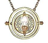 Inception Pro Infinite Halskette - Zeituhr - Sanduhr - Beige Sand - Goldfarbe