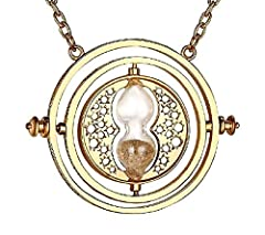 Idea Regalo - Inception Pro Infinite Collana - Giratempo - Clessidra - Sabbia Beige - Colore Oro