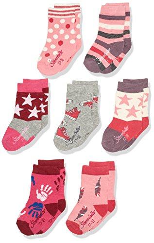 Sterntaler Baby-Mädchen 8421753-Söckchen 7er-Box Socken, Rosa (geranie 723), 18
