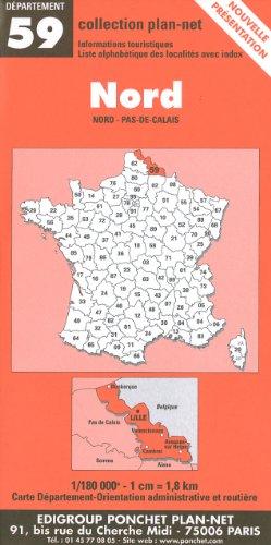 Carte routière : Nord par Cartes Ponchet
