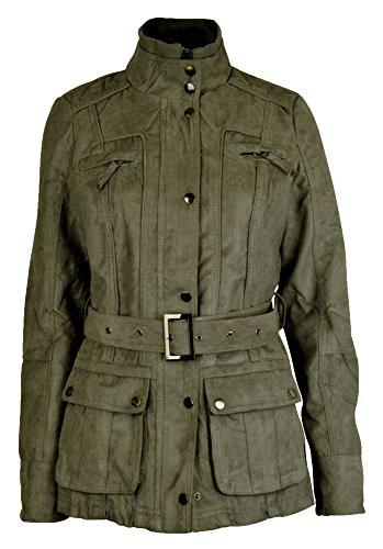 Femmes Cru RAW Style Daim Militaire Blousons manteaux Taille 40 42 44 46 48 50 Kaki Vert