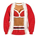Leapparel Adult 3D Womens Cardigan Fake 2 Pieces Printed Novelty Travel Long Sleeve T-shirt Top Shirts Red