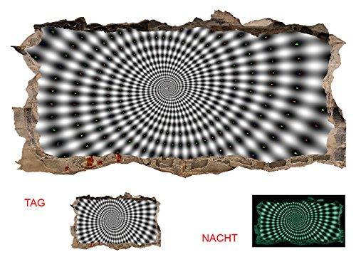 Schwarz Und Weiß-wand-kunst-himmel (Startonight 3D Tapete Hypnotisch Schwarz & Weiß, Wandmalerei Bild an der Wand Großformat Modern Muster Dekorative Kunst Wand 120 x 220 CM)