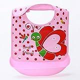 Sharplace Baby Kinder Lätzchen, Lätzchen mit auffangschale, Wasserdicht Babylätzchen mit Klettverschluss - Stil 8