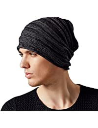 dacf85e3a34 Kenmont Autumn Winter Men Warm 100% Cotton Outdoor Knitted Beanie Hat Skull  Slouch Cap