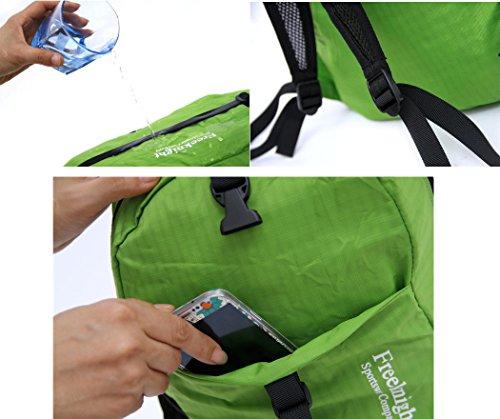 Faltbar verstaubarer Wandern Rucksack Ultra Leicht Wasserabweisend outdoor Rucksack handlich Travel Pack für Damen und Herren Grün