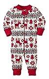 ECOWISH Weihnachten Schlafanzug Familien Outfit Mutter Vater Kind Baby Pajama Langarm Nachtwäsche Print Sleepwear Top Hose Set 124 Baby 6M