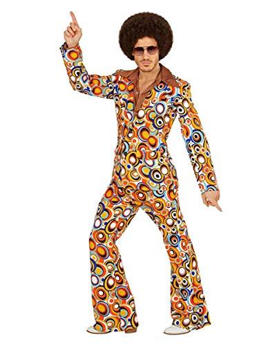 70er Jahre Bubbles Anzug als Herrenkostüm für Fasching - Groovy Disco Für Erwachsene Herren Kostüm