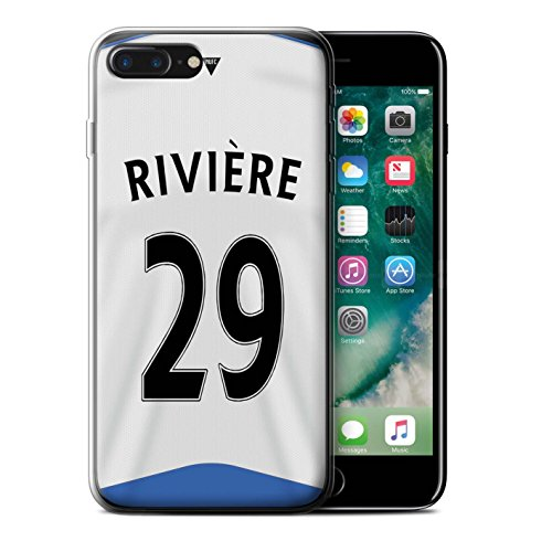 Offiziell Newcastle United FC Hülle / Gel TPU Case für Apple iPhone 7 Plus / Obertan Muster / NUFC Trikot Home 15/16 Kollektion Rivière