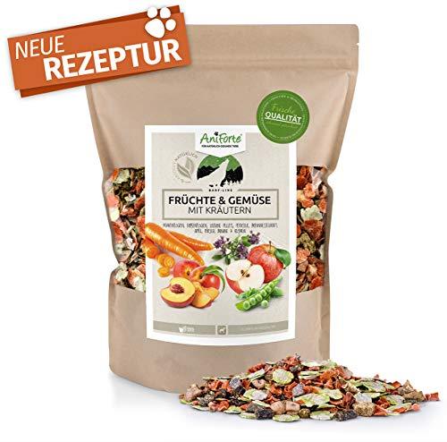 AniForte Barf Line Früchte und Gemüse mit Kräutern für Hunde 1kg - Naturprodukt, glutenfreie Gemüseflocken, natürliche Ergänzung zum barfen, Hundefutter