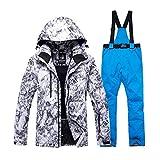 KUNHAN Abbigliamento da sci per uomo Abito da Neve Adulto Caldo Appositamente Mens Set da Snowboard Impermeabile Antivento Tuta da Sci Imposta Giacche E Pantaloni Bavaglino Migliore Tuta da Sci
