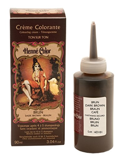 Henné Color: Brown (braun) Henna - Tönungscreme (90 ml) - Chemie Ohne Haarfarbe