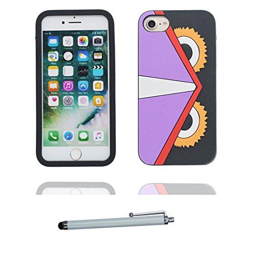 """iPhone 7 Coque, 3D Cartoon lapin striped Shirt Cover iPhone 7 étui (4.7 pouces) TPU souple Shell iPhone 7 Case (4.7"""") poussière glissement résistant aux rayures et stylet # 1"""