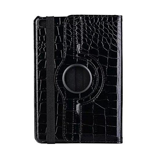 inShang ipad Pro 12.9 inch Hülle Cover für iPad Pro 12.9 inch (2015) , PU Leder Schutzhülle St?nder Smart Cover mit Super Automatische Einschlaf-/Aufwach funktion, case 360 Grad rotierende Schutzhülle Crocodile black