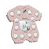 Cornice fotografica Mascagni Idea regalo bambini Il primo anno - Rosa