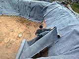 30 m² Teichvlies Schutzvlies Folienschutz Teichfolie 300g/m² Vlies Teich 2 m Breite x 15 m 1,62 Euro/ m²