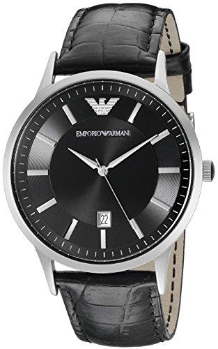 Armani Emporio AR2411 - Reloj de pulsera para hombre, negro / negro
