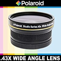 Polaroid Studio Series .43X High Definition Wide Angle Lens With Macro Attachment, Includes Lens Pouch And Cap Covers For The Pentax Digital Slr Cameras