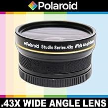Polaroid Studio Series 43X High Definition Wide-Angle Lens SLR - Objetivo (SLR, Objetivo ancho, Nikon, D40, D 40 x, D50, D60, D70, D80, D90, D100, D200, D300, D3, D3S, D700, D3000, D5000, D3100, D3200,..., Negro, 5,8 cm)