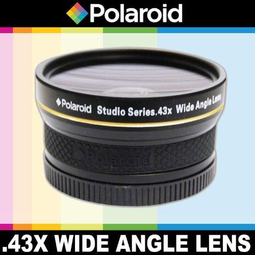 Obiettivo grandangolare ad alta definizione .43x di Polaroid Studio Series con fissaggio Macro, include una custodia di obiettivo e i coperchi di obiettivo per l