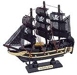Générique 2173 Maquette Bateau Pirate, Bois, Noir, 16 x 4 x 16 cm...
