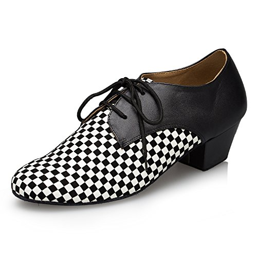 Miyoopark - Ballroom uomo Black/White-4.5cm heel
