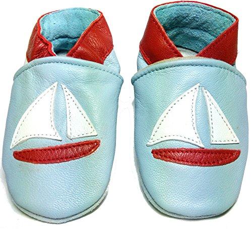 16 Opcional Bebê Sapatos Veleiro Rastejando De Sapatos Chinelos Motivo Do Rastejando Puschen 04P47B