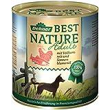 Dehner Best Nature Hundefutter, Adult Lachs und Geflügel mit Reis, Probiergröße, 400 g