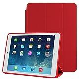 THE FLY SHOP - Cover per iPad Air 2 / Custodia Integrale Rossa con Dorso Rigido e Copertina Proteggi Schermo Pieghevole Che Funge da Supporto