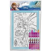 frajodis–0006828–Mini Puzzle a colorare con matite pastelli–Frozen