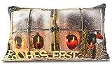 Riffelmacher Kissen Frohes Fest beleuchtet 12145-30x50cm - Wunderschönes beleuchtetes Dekokissen mit Füllung Dekoration Couch Sofa Weihnachten