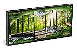 Schipper - Malen nach Zahlen - Am Wildbach - Bild malen für Erwachsene, inklusive Pinsel und Acrylfarben, 5 Bilder, Meisterklasse Polyptychon - Profi-Edition, 132 x 72 cm