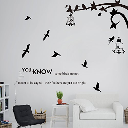 OLSR® Sie wissen einige Vögel sind nicht dazu bestimmt ihre Federn zu fangen sind nur zu hell Englische Sprichwörter Wandtattoos Redewendungen Entfernbar Wasserdicht Haus Dekoration zum Wohnzimmer (A)