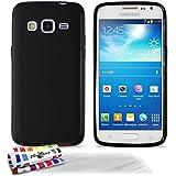 Muzzano F95785 - Funda para Samsung Galaxy Express 2, incluye 3 protectores de pantalla, color negro
